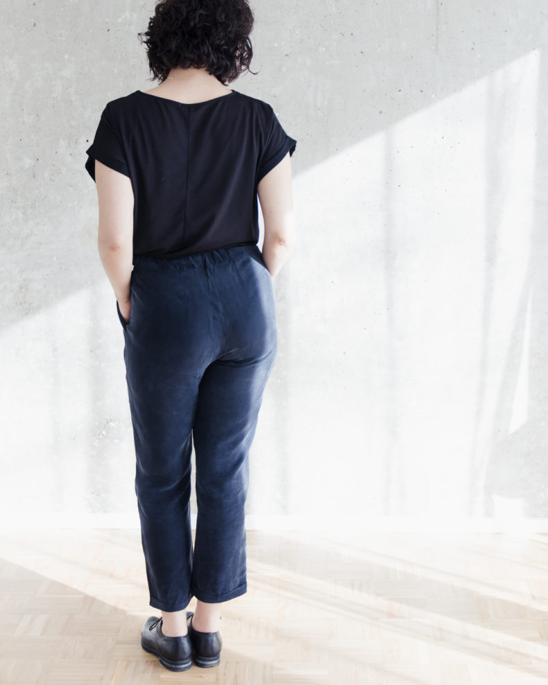 SchSchnittduett - Kollektion Wrapped - Wir bieten moderne Schnittmuster für Damennittduett - Hose Wrapped Schnittmuster