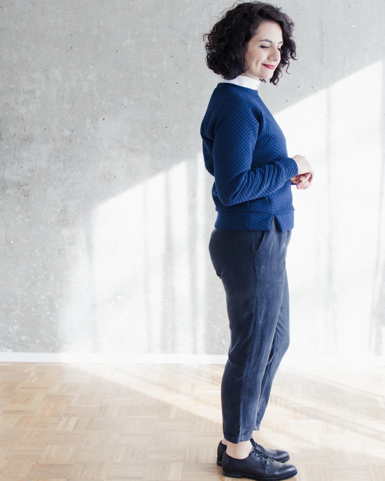 Schnittduett Sweater Wrapped - Sweater Wrapped Schnittmuster - Wir bieten moderne Schnittmuster für Damen