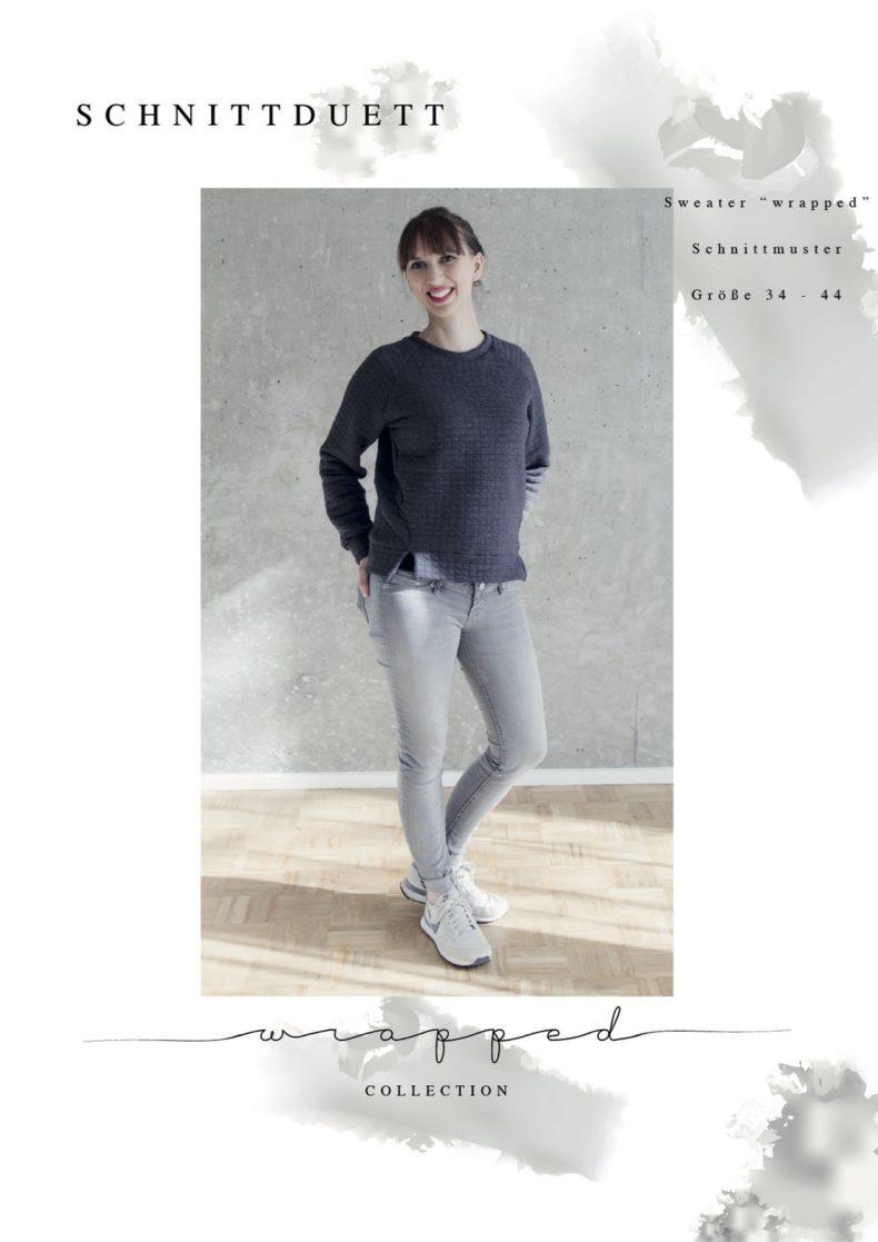 Schnittduett - Schnittmuster Raglan Sweater Wrapped - Wir bieten moderne Schnittmuster für Damen zum selbernähen