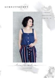 """Top nähen mit Nähanleitung: Schnittmuster Top """"LaSole Camisole"""" mit breiten Träger und Knopfleiste - Schnittduett - Moderne Schnittmuster für Damen, die feminine Mode lieben"""
