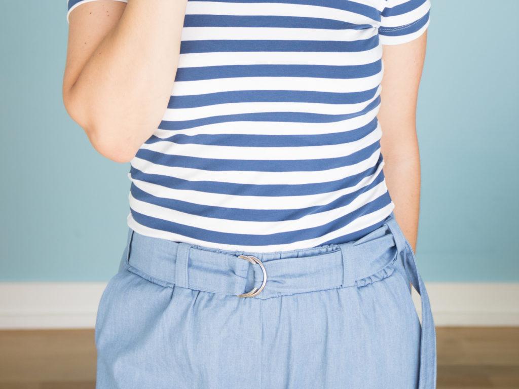 Hose Wrapped mit D-Ring-Gürtel nähen - Schnittduett - moderne Schnittmuster für Damen