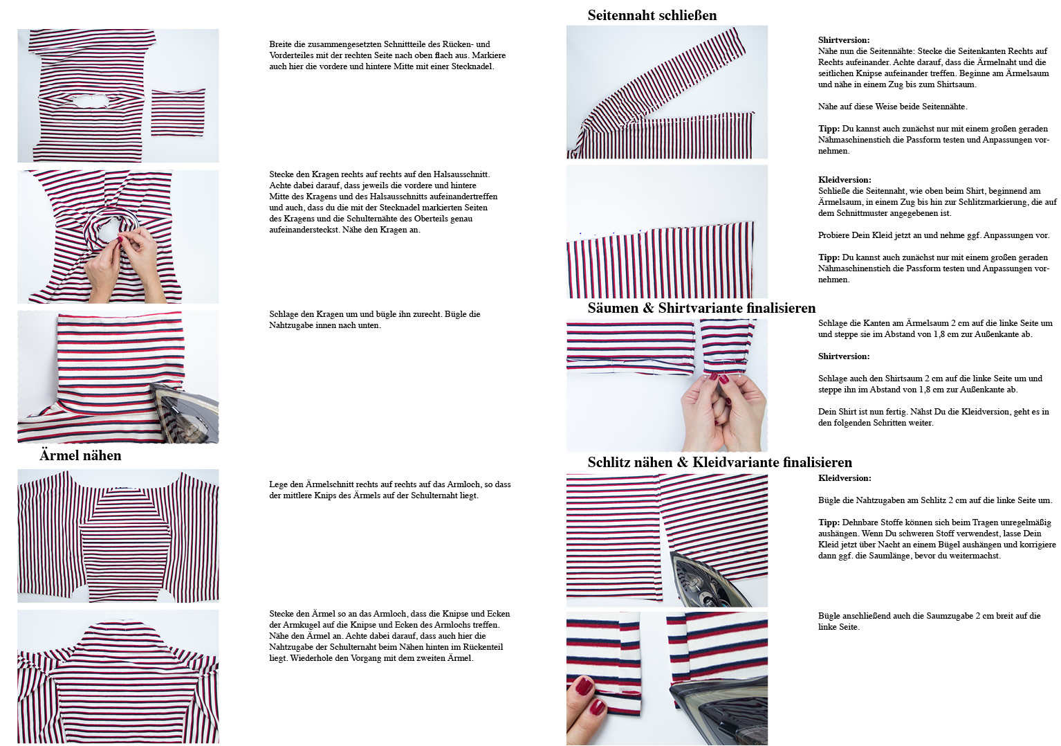 Shirt nähen: Rollkragen-Shirt und Maxikleid Modular Collection - Schnittduett - Moderne Schnittmuster für Frauen, die minimalistische Mode lieben