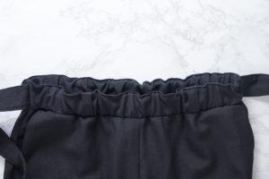 Anleitung: Gummibund absteppen an der Hose Wrapped