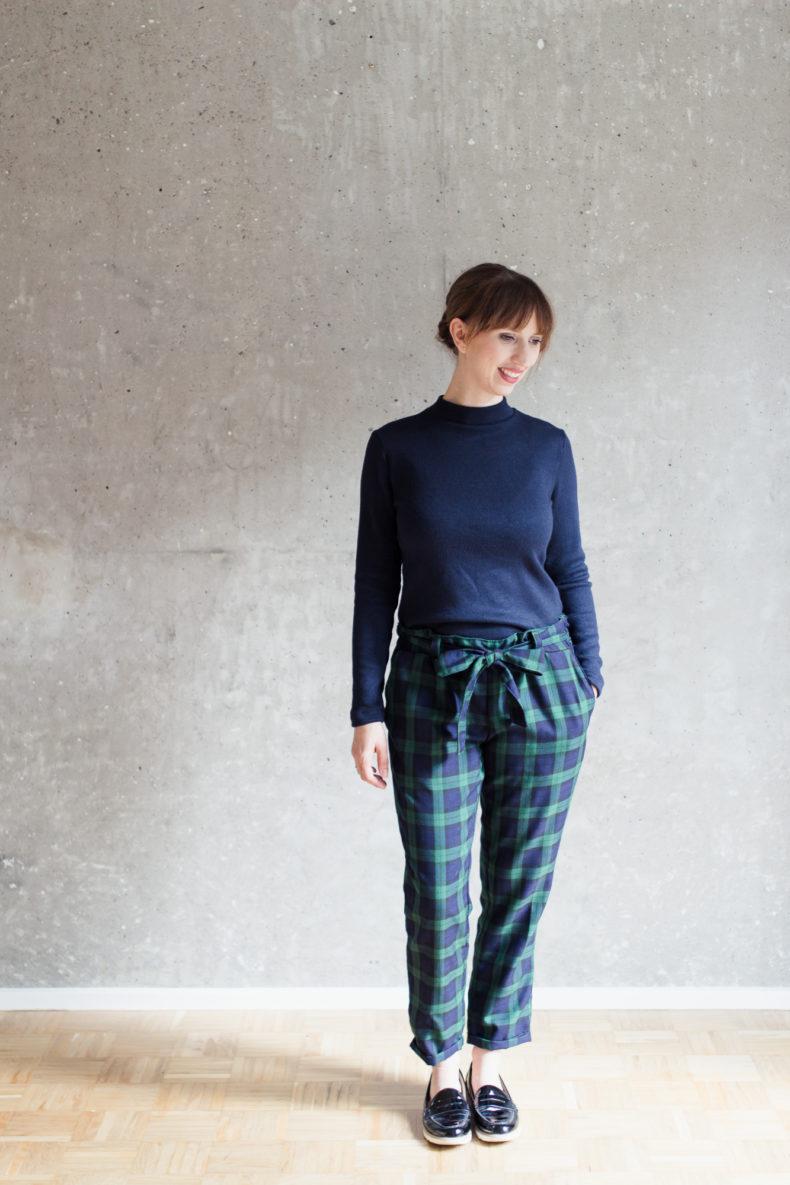 Schnittmuster Rollkragenpullover Modular Collection, Schnittmuster Hose Wrapped - Schnittduett - Moderne Schnittmuster für Damen, die minimalistische Mode lieben