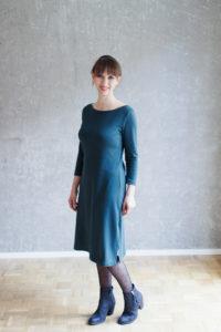 Nähanleitung Kleid nähen - Schnittmuster U-Boot-Ausschnitt Kleid Modular Collection - Schnittduett - Moderne Schnittmuster für Frauen, die minimalistische Mode lieben