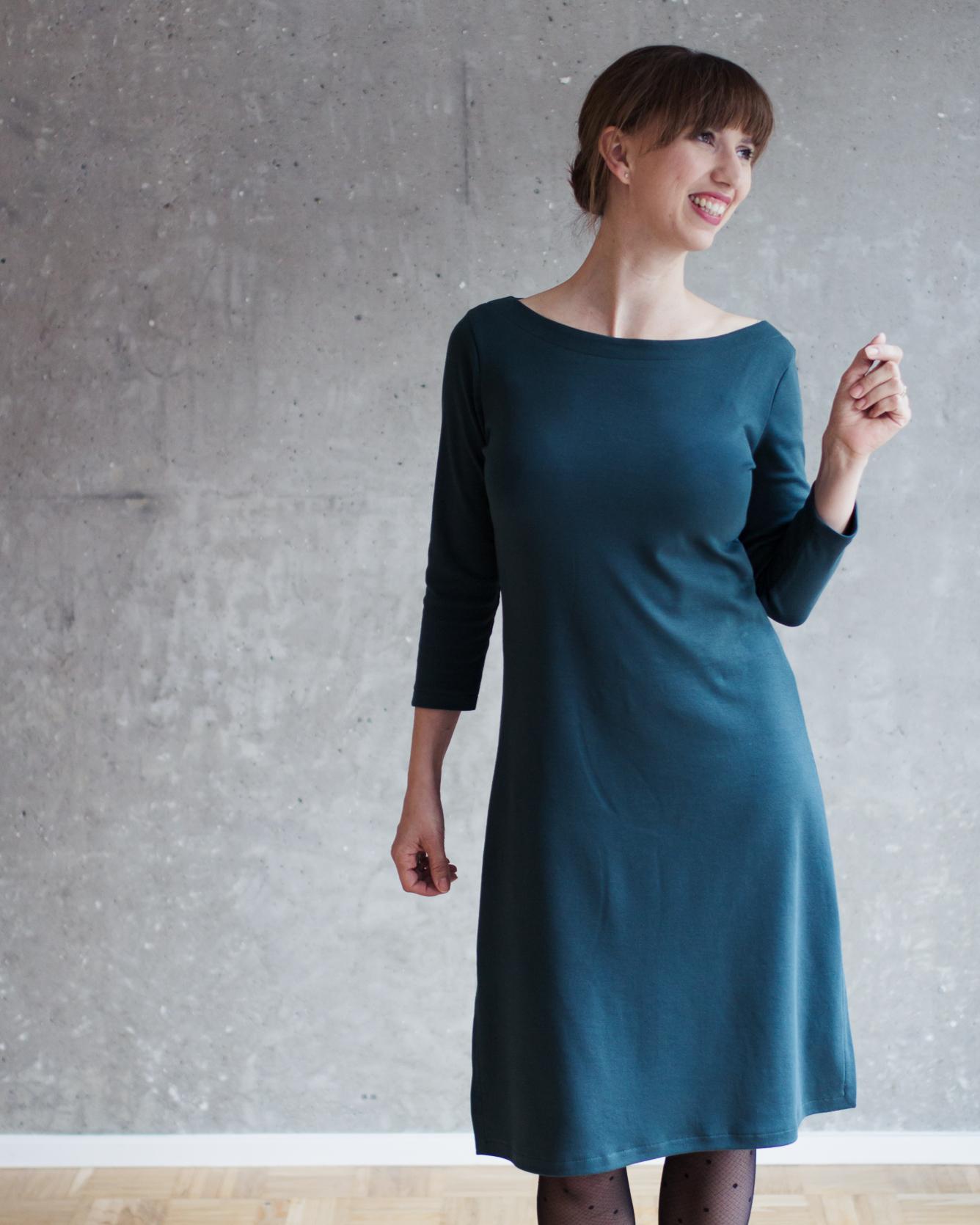 Nähanleitung Kleid nähen - Schnittmuster Kleid mit U-Boot-Ausschnitt und Modular Collection - Schnittduett - Moderne Schnittmuster für Frauen, die minimalistische Mode lieben