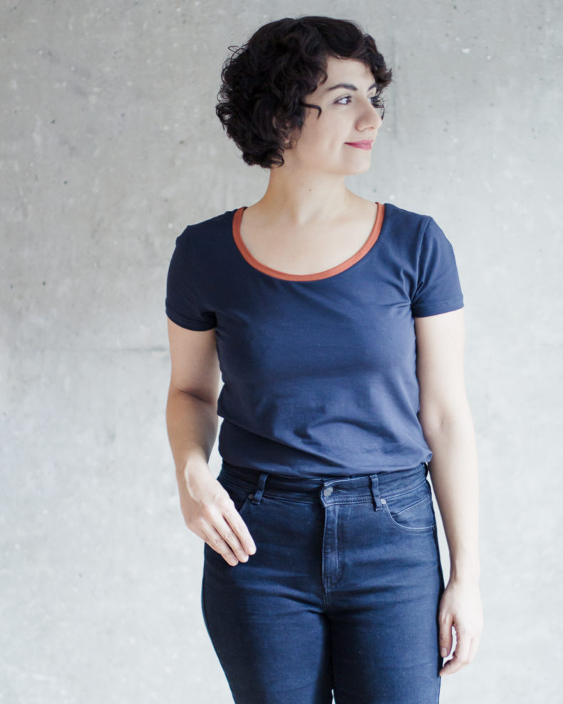 Das Schnittmuster T-Shirt Damen der Modular Collection: Klassisches T-Shirt nähen mit Schritt-für-Schritt Nähanleitung - Schnittduett - Moderne Schnittmuster für Frauen, die minimalistische Mode lieben