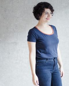 Klassisches T-Shirt nähen mit Schritt-für-Schritt Nähanleitung: Das Schnittmuster T-Shirt Damen der Modular Collection - Schnittduett - Moderne Schnittmuster für Frauen, die minimalistische Mode lieben