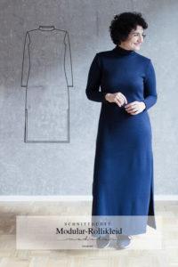 Schnittmuster Strickkleid mit Rollkragen Modular Collection - Schnittduett - Moderne Schnittmuster für Damen, die minimalistische Mode lieben