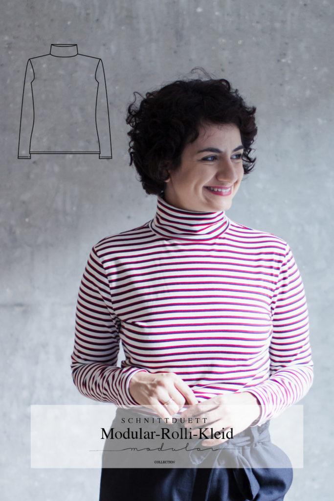Schnittmuster Rollkragenshirt Modular Collection - Schnittduett - Moderne Schnittmuster für Damen, die minimalistische Mode lieben