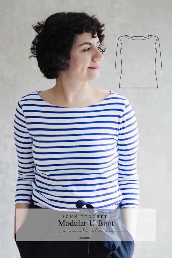 Schnittmuster U-Boot-Shirt und Midikleid Modular Collection - Schnittduett - Moderne Schnittmuster für Damen, die minimalistische Mode lieben