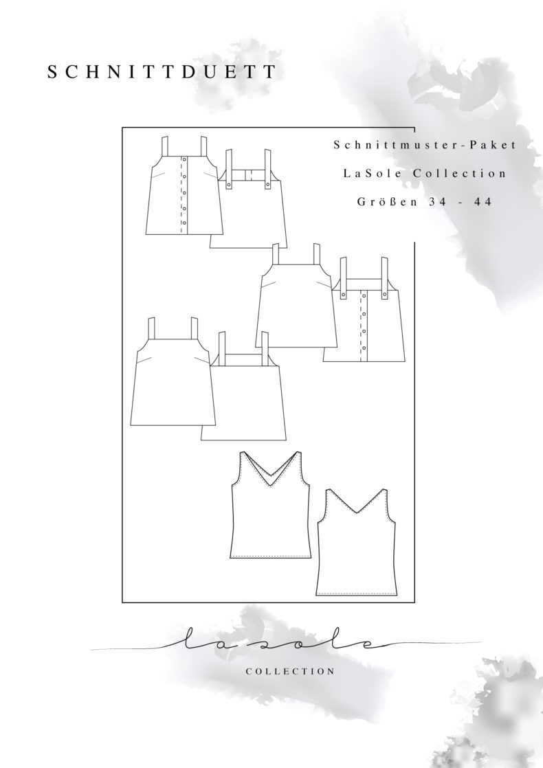 La Sole Collection Schnittmuster Jersey Camisole Sommer V-NeckTop - Sommertop aus Jersey nähen - Schnittduett