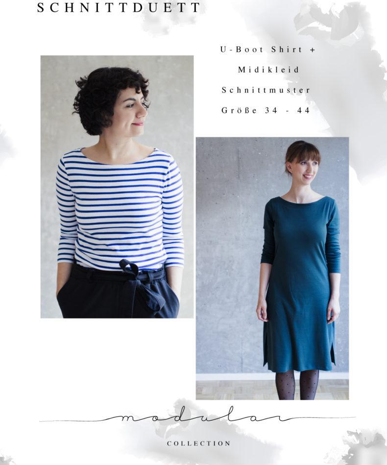 U-Boot-Shirt und Midikleid Modular Collection - Schnittduett - Moderne Schnittmuster für Frauen, die minimalistische Mode lieben