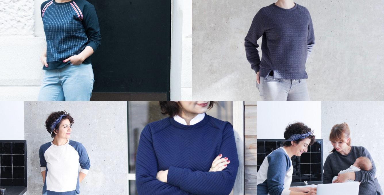 Schnittduett Sweater Wrapped Inspirationen Schnittmuster für Raglan Sweater zum selbernähen