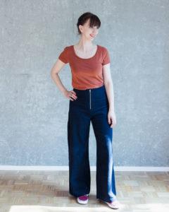 Hose Lola - Schnittmuster High Waist Hose und Shorts mit weiten Beinen Schnittduett