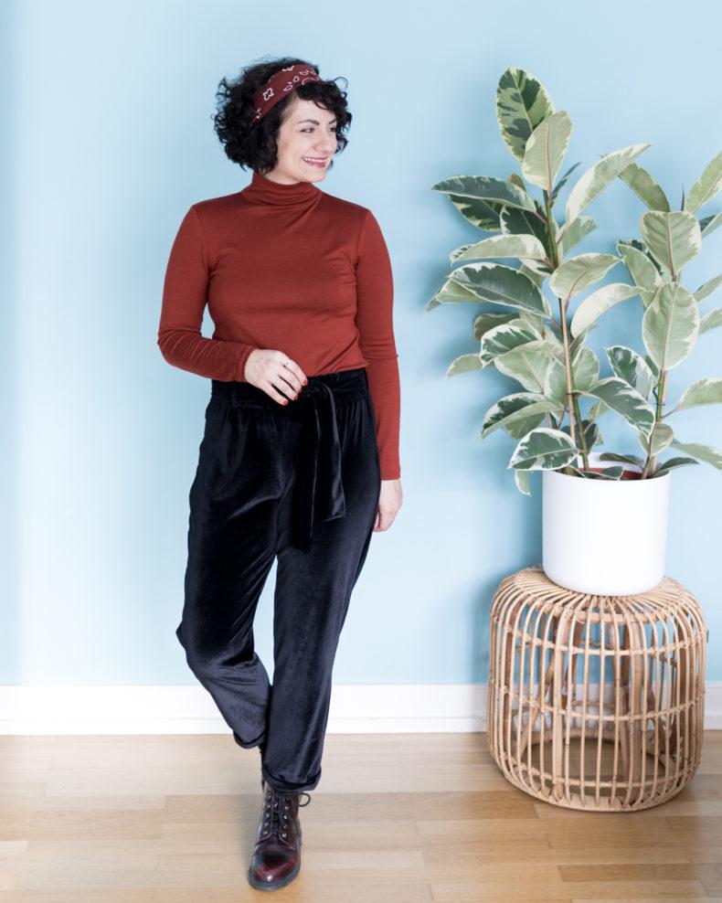 Selbstgenähtes Outfit Schnittmuster Rollkragenpullover Schnittmuster Hose Wrapped - Schnittduett - Moderne Schnittmuster für Frauen, die minimalistische Mode lieben