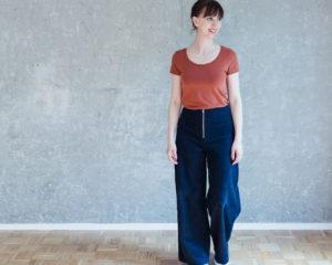 Schnittmuster Hose anpassen - Schnittmuster High Waist Hose Lola - Schnittduett - Moderne Schnittmuster für Damen