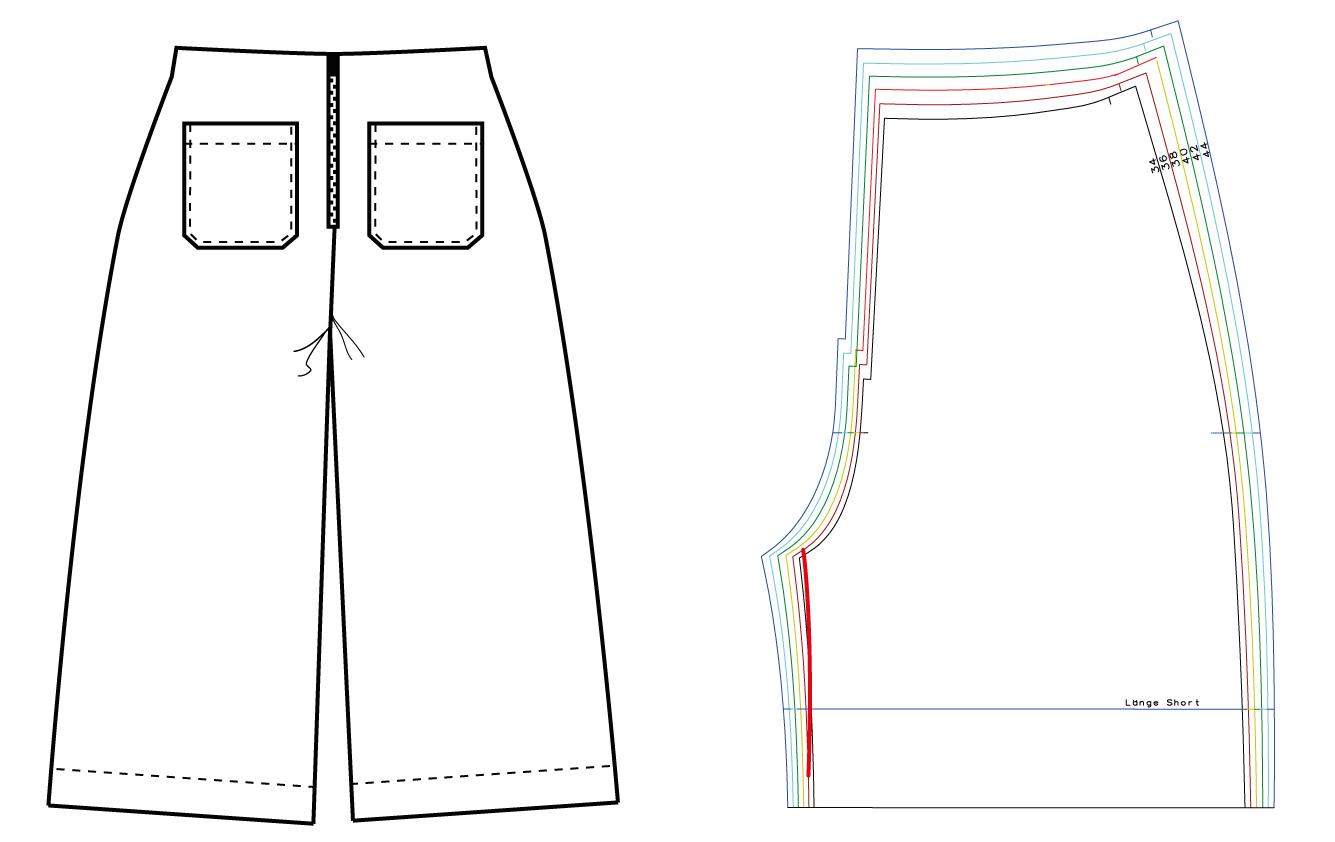 Hosenschnittmuster anpassen: Schrittweite verringern - Schnittduett - Moderne Schnittmuster für Damen