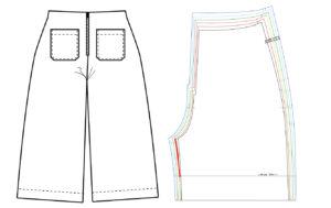 Schnittmuster Hose anpassen - Schnittmuster High Waist Hose Lola - Schnittduett - Schrittweite verlängern - Moderne Schnittmuster für Damen