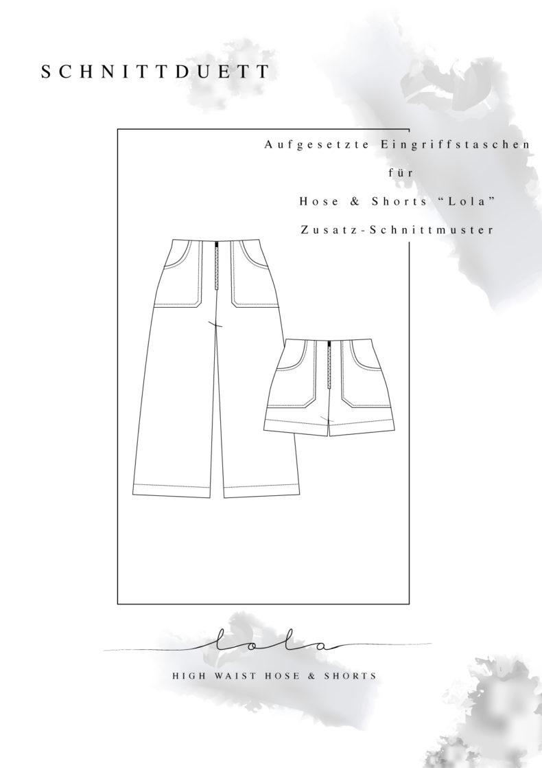 Schnittmuster Add-On Eingriffstaschen für High Waist Hose Lola & Shorts