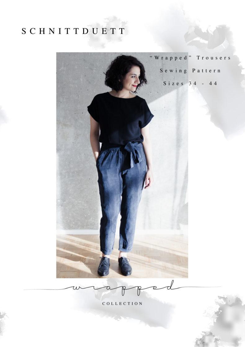 Pattern Trousers: Schnittduett Wrapped Trousers PDF Pattern by Schnittduett