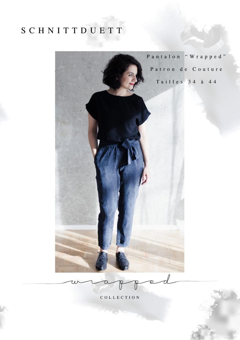 Pantalon Wrapped - Patron de Couture PDF - Schnittduett