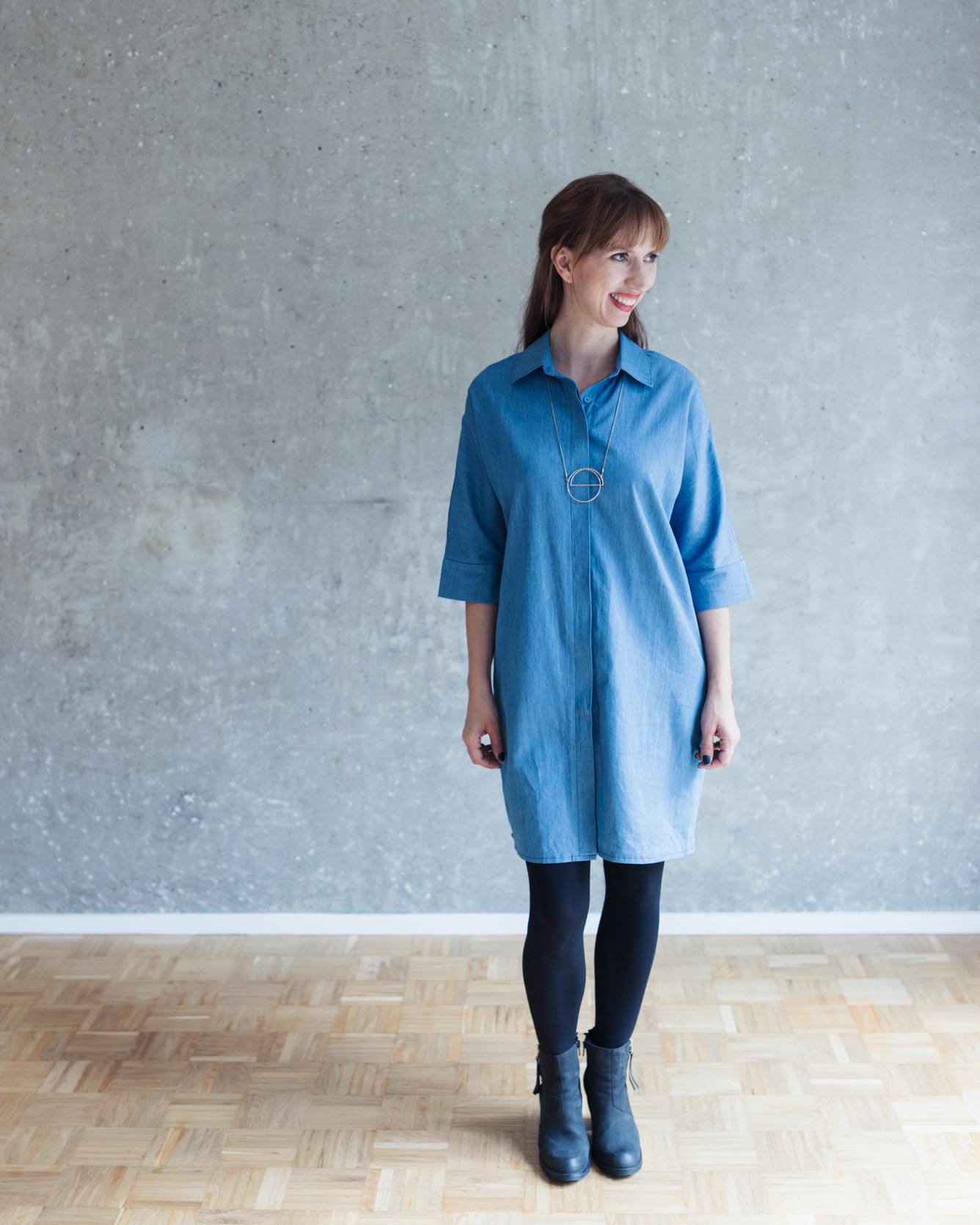 Schnittduett Schnittmuster Oversize Blusenkleid Cocoon - Wir bieten moderne Schnittmuster für Damen