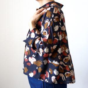 Schnittmuster Bluse nähen mit Nähanleitung - Schnittmuster Oversize Bluse Cocoon Schnittduett - Genäht von Jaqueline von ringelotte