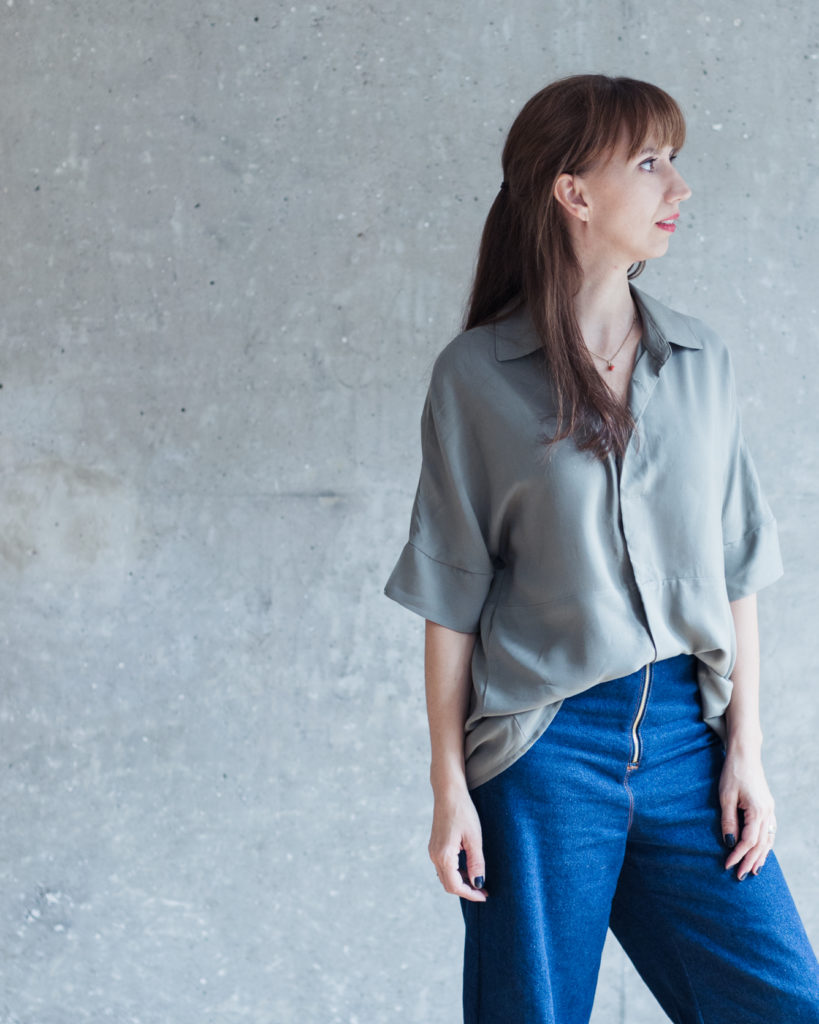 Stoffauswahl Bluse Cocoon