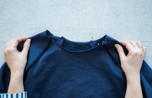 Bündchen Nähen Sweater Wrapped Sewalong - Schnittduett