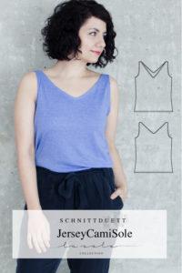 Jersey Camisole La Sole Collection Schnittduett - Jersey nähen