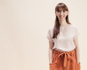 Schnittmuster Blusenshirt Bloom - Blusenshirt nähen - Schnittduett moderne Schnittmuster für Damen