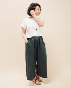 Trendige Culotte nähen mit ausführlicher Nähanleitung: Schnittmuster Culotte Bloom in drei Längen - Schnittduett moderne Schnittmuster für Damen