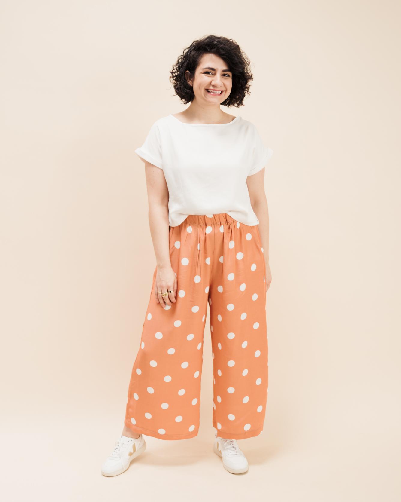 Schnittmuster Culotte und Blusenshirt Bloom - Culotte nähen - Schnittduett