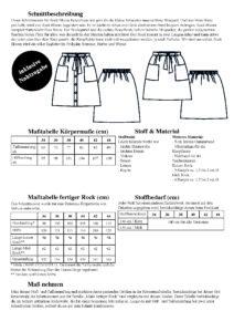 Schnittmuster Rock Bloom mit Knopfleiste - Informationen und Details um den Rock mit Knopfleiste zu nähen - Schnittduett
