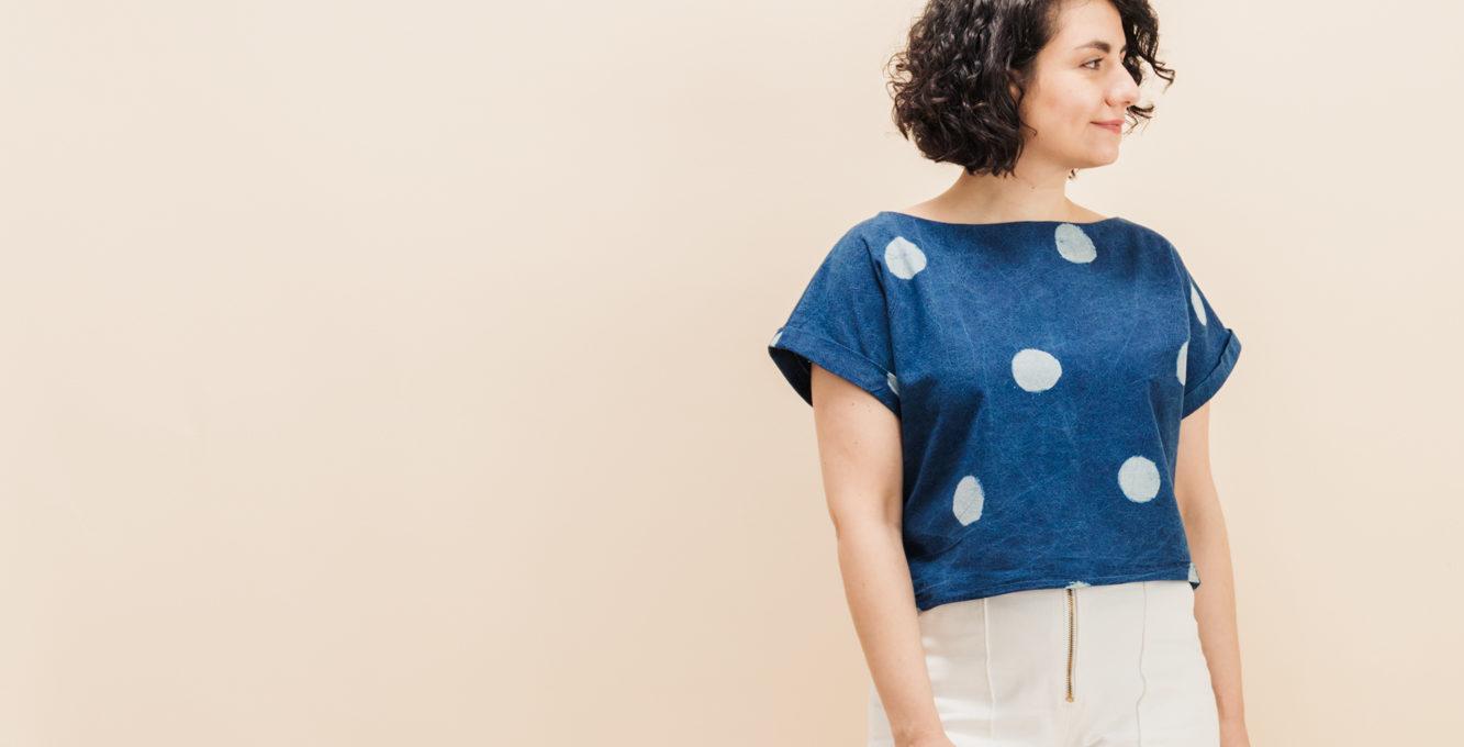 Beleg nähen: Schnittmuster Blusenshirt Bloom