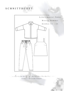"""Schnittmuster Paket """"Breezy Summer"""" - Schnittmuster Hose Wrapped, La Sole Cami und Bluse Cocoon"""