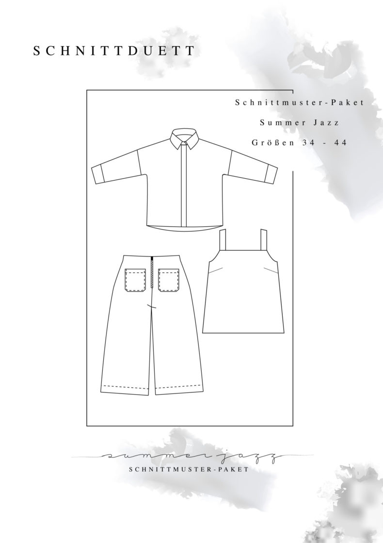 """Schnittmuster Paket """"Summer Jazz"""" - Schnittmuster High Waist Hose und Shorts Lola, La Sole Cami und Bluse Cocoon"""