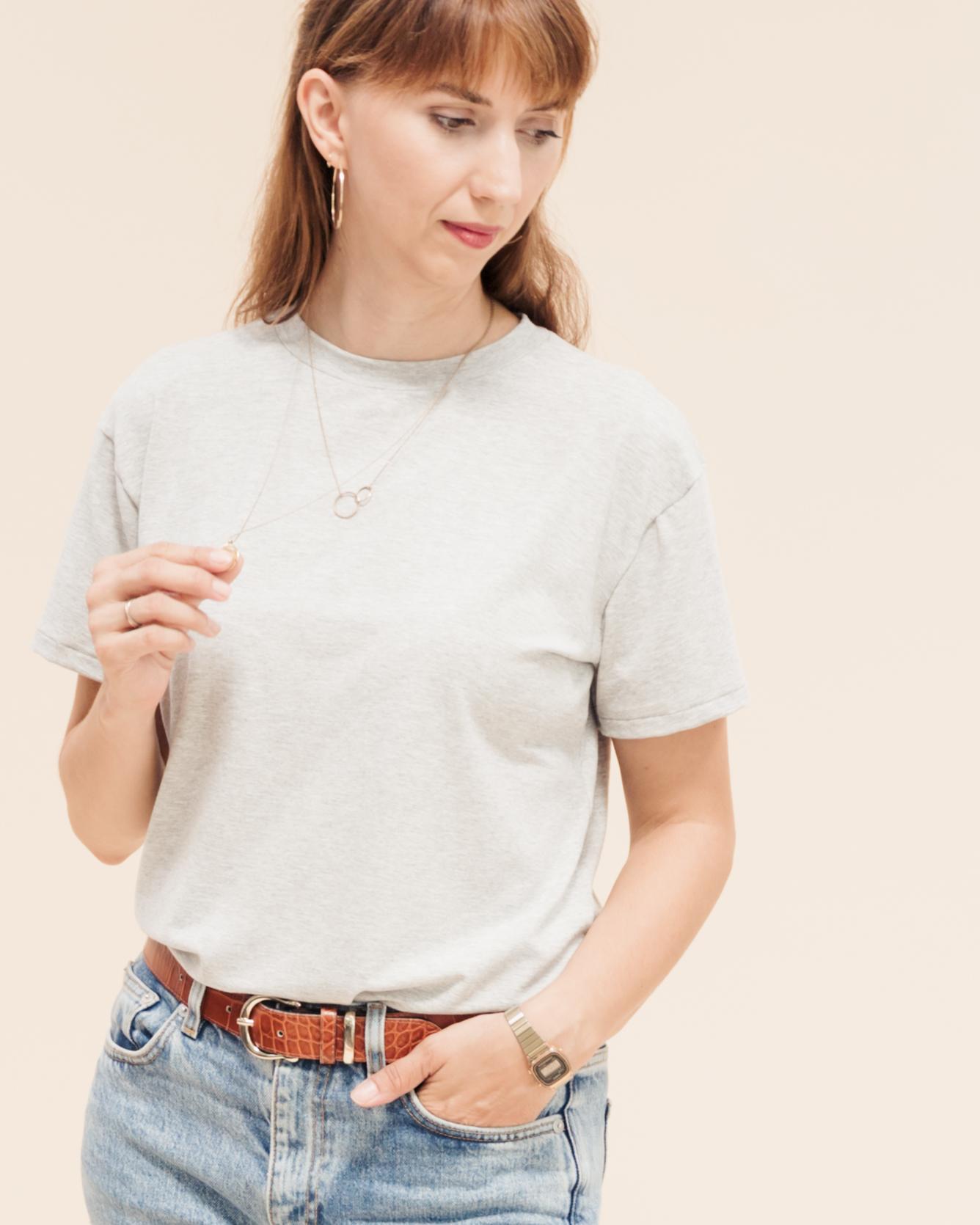 Lässige T-Shirts nähen: Tomboy T-Shirts Schnittmuster für trendige Oversize T-Shirts in angesagtem Boyfriend Look.