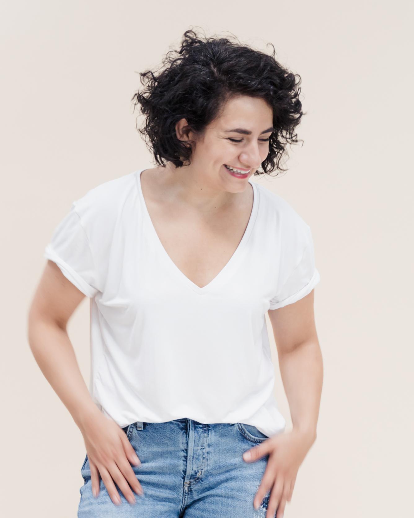 Tomboy T-Shirts Schnittmuster für trendige Oversize T-Shirts in angesagtem Boyfriend Look.
