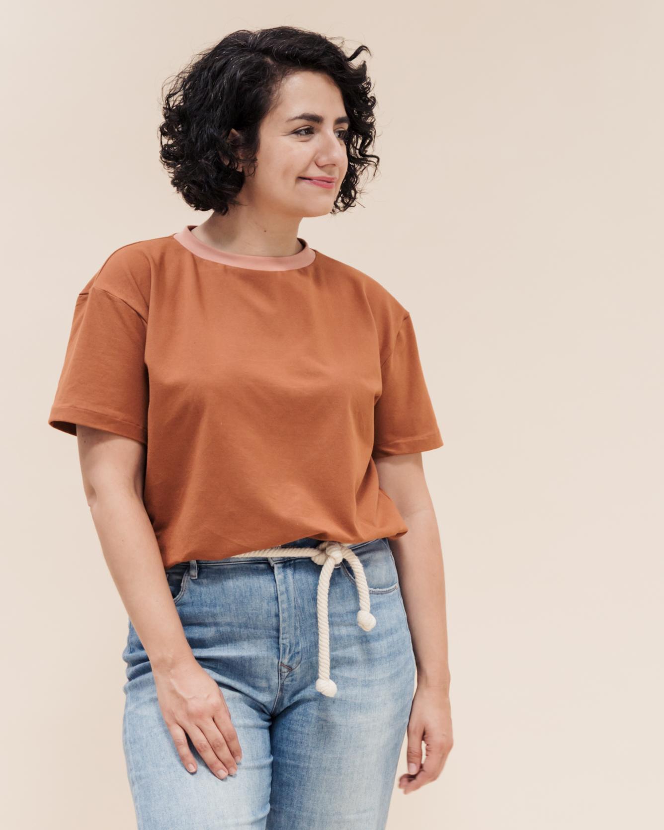 Tomboy trendige Oversize T-Shirts in angesagtem Boyfriend Look.
