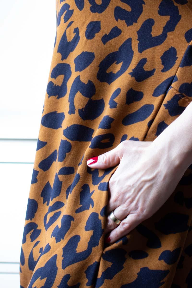 Schnittmuster Blusenkleid Cocoon nähen mit Leoprint