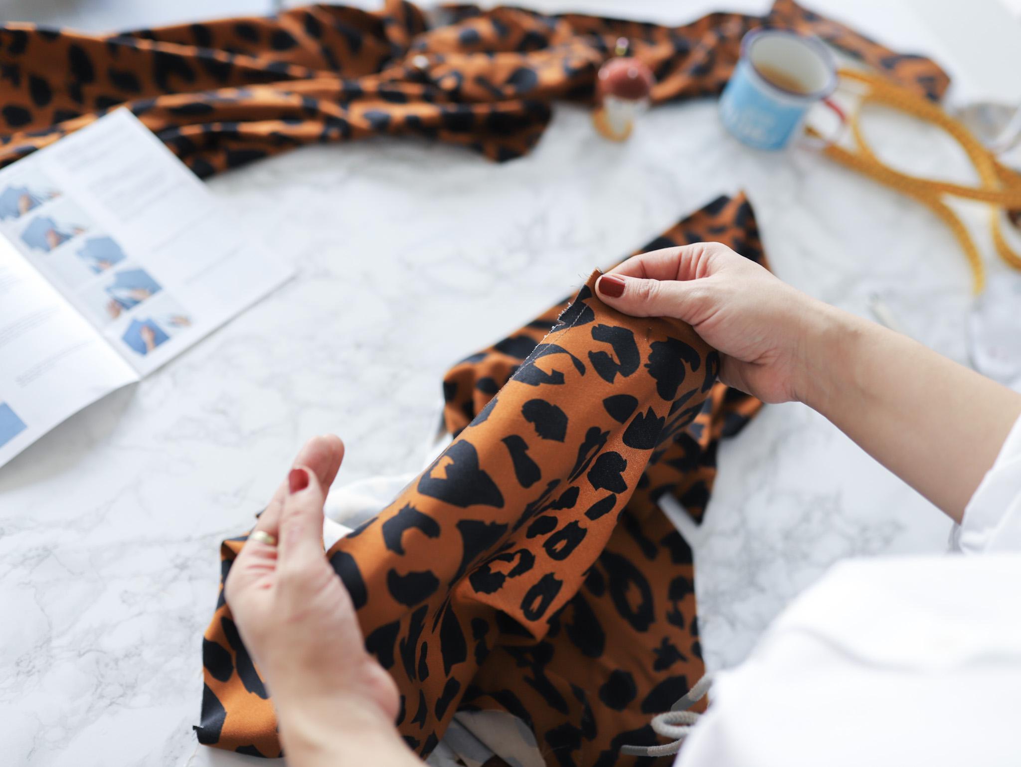 Bluse Cocoon Sewalong Knopfleiste nähen