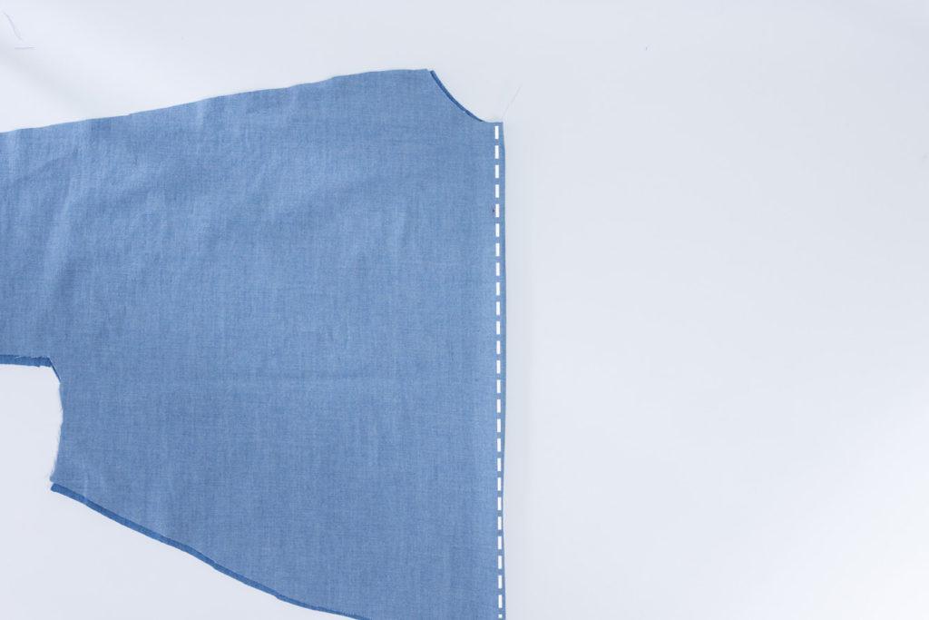 Sew Along Blusenkleid Cocoon Rückennaht nähen