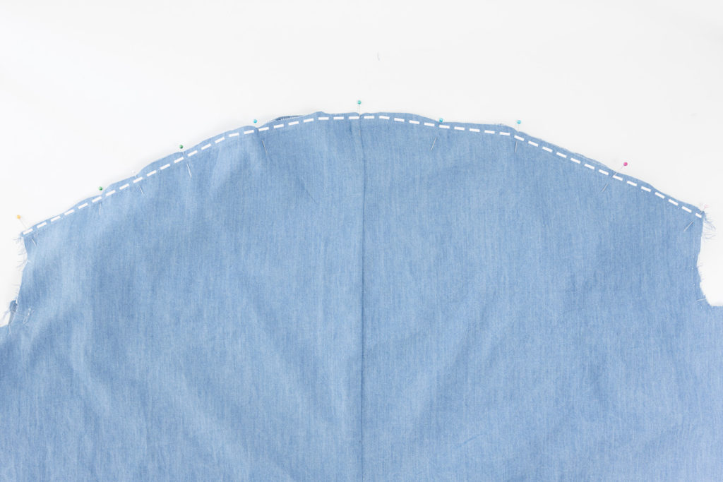Sew Along Blusenkleid Cocoon Rücken zusammennähen