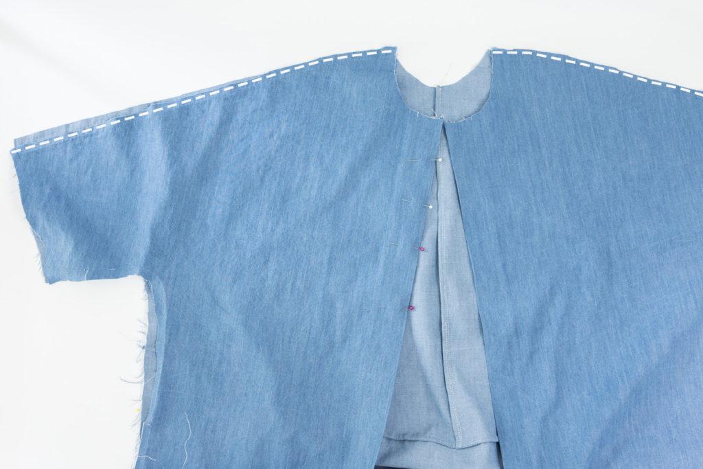Sew Along Blusenkleid Cocoon Schulternähte nähen