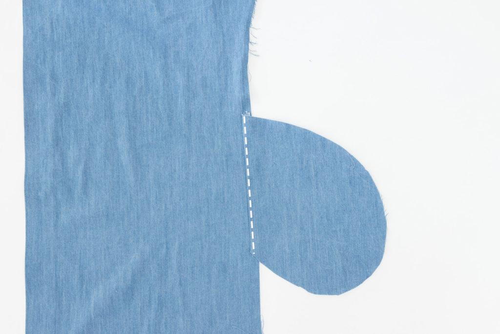 Sew Along Blusenkleid Cocoon Eingrifftaschen nähen