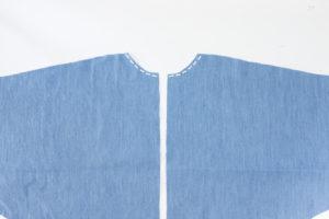 Cocoon Bluse und Blusenkleid nähen - Stabilisierungsnaht Halsausschnitt - Schnittduett Sewalong