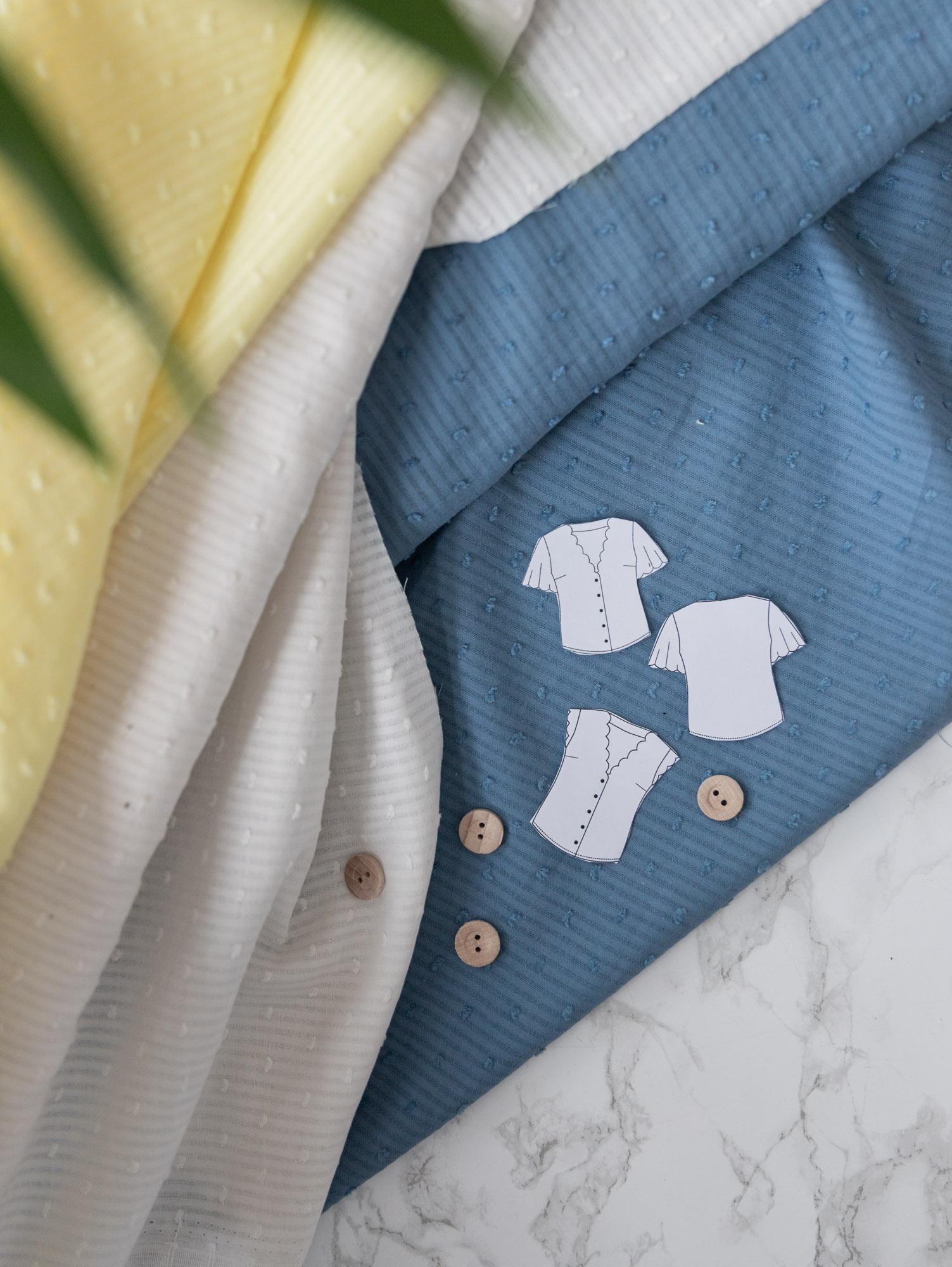 Welchen Stoff für Bluse Escapade verwenden? Schnittduett