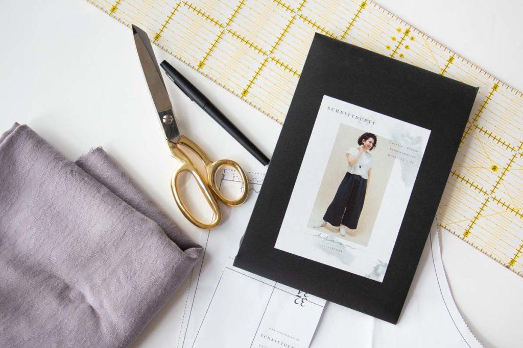 Patternhack Culotte Bloom mit Kellerfalte nähen - Material